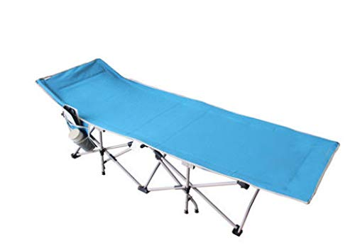 RUNQIAN Klappbares Gäste-Einzelbett, klappbarer Lounge-Sessel, aufklappbares Aluminium-Campingbett