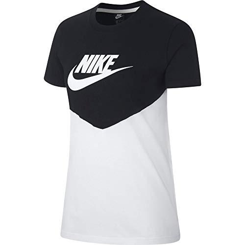 Nike Damen Heritage T-Shirt, Black/White, M
