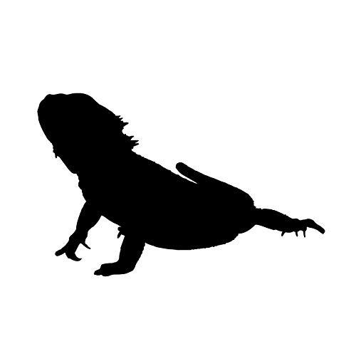 ZQZL 12,9 * 8,3 CM Monitor Lagarto Reptil Lagarto decoración Pegatinas de Coche Vinilo