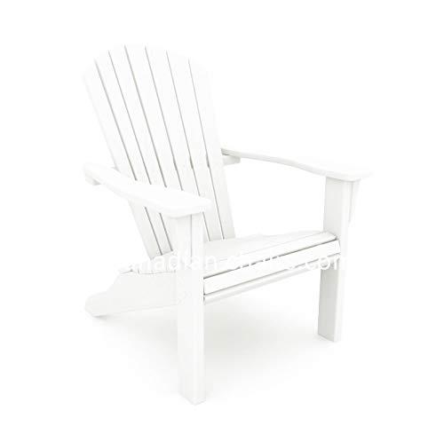 Canadian Chairs Original Muskoka Stuhl, recycltem Kunststoff, 10 Jahre Garantie (Weiß)