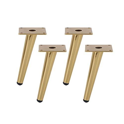 WYBW Pies de soporte para muebles, 4 patas de acero inoxidable para muebles, pies para muebles oblicuos cónicos utilizados en sofá, gabinete, tocador, armario, zapatero, herrajes y accesorios para mu