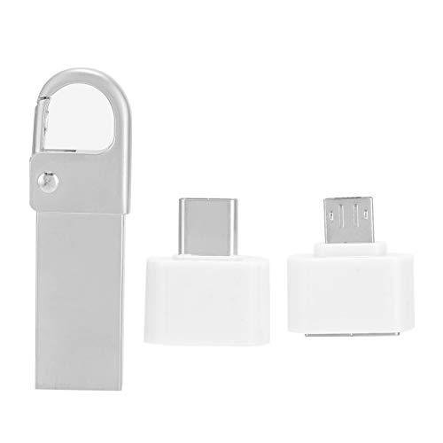 HS292 U Disk Hanging Buckle USB2.0 Flash Pen Drive Speed 4M-20M Memory Cell USB Stick Gift Plug and Play U Disc, para Uso en computadora, Adaptador OTG Type-C(1G)