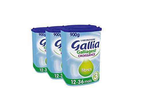 Laboratoire Gallia Galliagest - Lait bébé Croissance en poudre de 12 mois à 3 ans 900 g - Lot de...