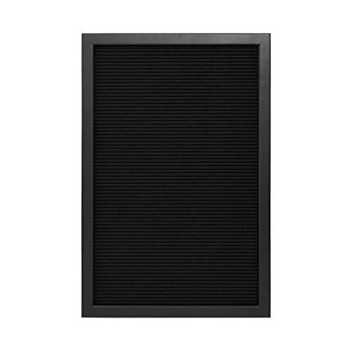 BUTLERS MESSAGE BOARD Letterboard mit Buchstaben 30x45 cm in Schwarz - Stecktafel aus Holz und Filz - Buchstabenbrett Rillentafel mit Buchstaben & Zahlen - Retro Tafel