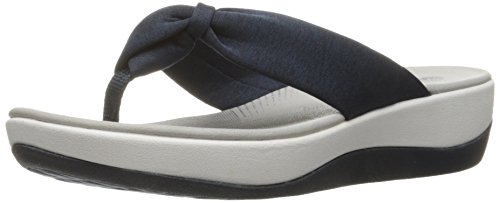 CLARKS Women's Arla Glison Platform, Blue Heather Fabric, 9 Medium US