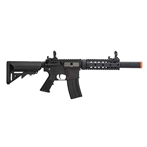 Lancer Tactical Gen 2 Polymer SD AEG Electric Automatic Airsoft Gun Black with High FPS