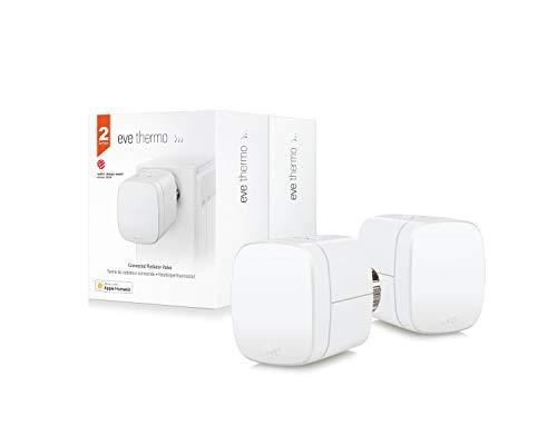 Eve Thermo, 2x smartes Heizkörperthermostat, Bluetooth, weiß