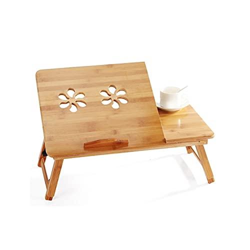 Flatware Mesa de Cama de Escritorio de lapización de bambú Soporte para computadora portátil Ajustable para Escritorio Sofá Sofá Sofá Silla de Cinta (Size : Large)