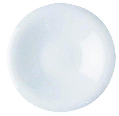Alessi Gv13/77 Pluto Soucoupe Pour Tasse à Moka en Porcelaine Blanche, Set de 6 Pièces