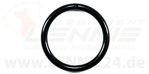 LENNIE 10x Rundring, O-Ring, Stahl, schwarz, Größe: 32 mm (1 1/4