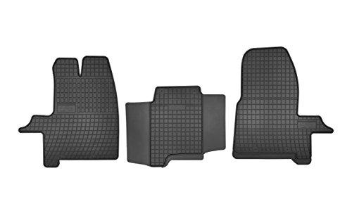 Frogum D00312 Gummifußmaten, solide, oryginal Passform Ford Transit Custom ab 2012-… angepasst – Schwarz