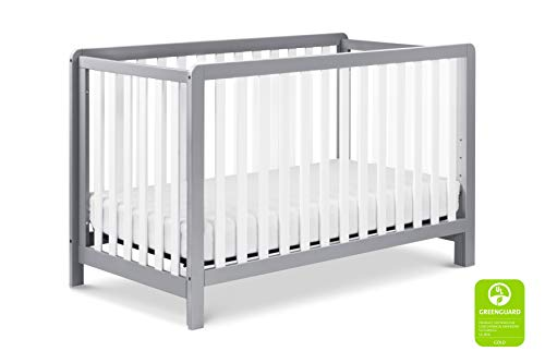 New Carter's by DaVinci Colby 4-in-1 Low-Profile Convertible Crib in Grey and White | Greenguard Gol...