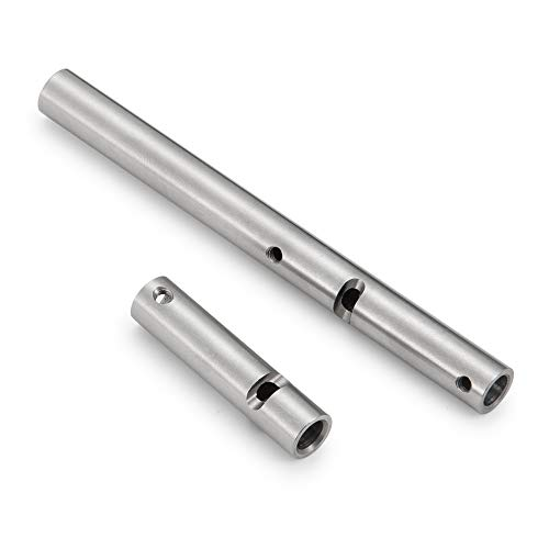 Que-T Stainless Steel Axle Tubes for 1/10 RC Crawler Axial Wraith RR10 Yeti Car