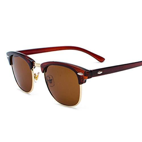 Gafas De Sol Gafas De Sol Polarizadas Hombres Sin Montura Gafas De Sol Clásicas Mujeres Sombras Sunglass Uv400 Tea