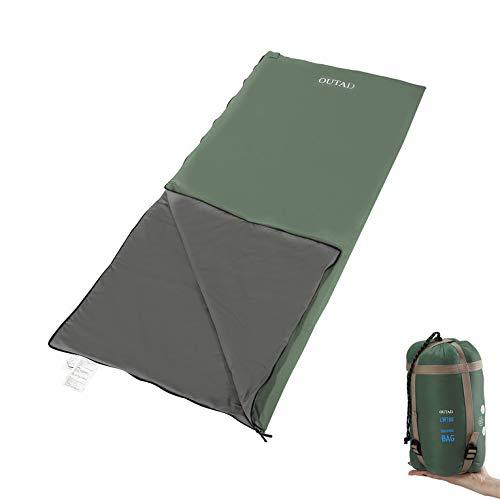 ManalaTa OUTAD Sacco a Pelo Leggero Portatile Comfort Impermeabile per Caccia Pesca Army Verde XL