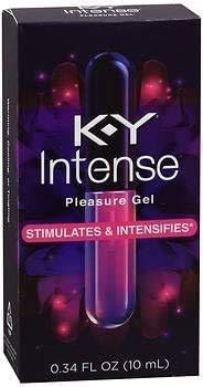 K-Y Intense Pleasure Gel Lubricant, 0.34 oz. (Pack of 2)