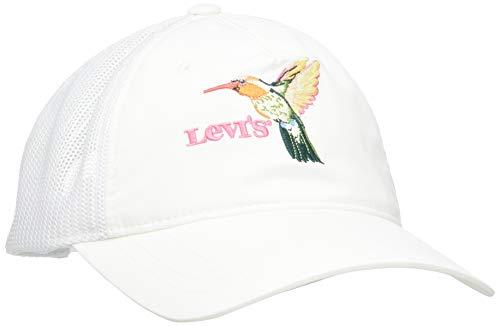 Levi's Damen Women's Mesh Back Baseball Cap - Seasonal Print Baseballkappe, Regular White, One Size