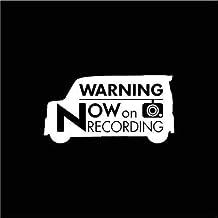 【ドラレコ】ホンダ N-BOXカスタム【JF3系】警告 録画中 ステッカー (反射ホワイト(Amazon限定))