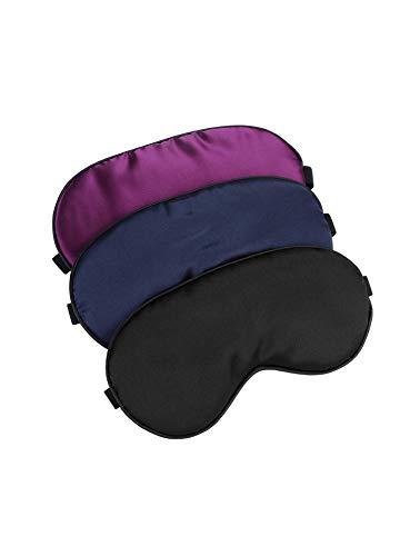 Hochoek Silk-Sleep-Mask Eye-Mask Eye-Cover Eyeshade - 100% Silk Soft Adjustable Strip Eye...