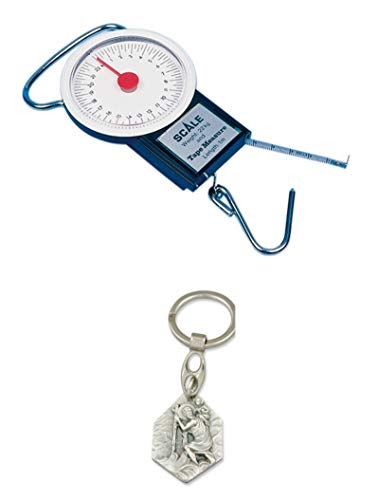 Zisa-Kombi Gasflaschen-Federwaage (Messbereich bis 22 kg) (93298875040) mit Anhänger Herz Jesu 2,5cm