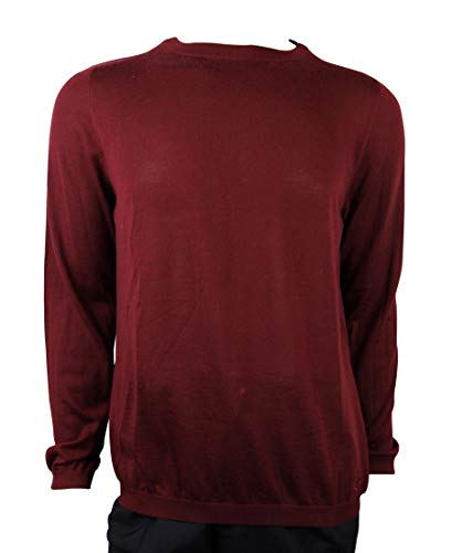 Gucci Men's Wine Red GG Emblem with Cashmere Pullover Sweater 369065 6215 (XL)