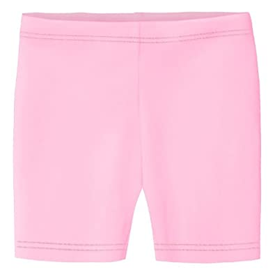 City Threads Little Girls Underwear Bike Shorts in All Cotton Perfect for SPD and Sensitive Skin Sports Dance School Uniform, Pink 4T