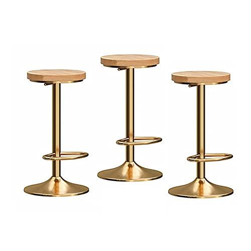 BY-lYJ Sillas de Bar Desayuno Barstool Sitio de Taburete Ajustable Sistema de Taburete de 3, sillas de Comedor Modernas para Pub de Cocina, 350 Libras Taburetes de Barra de Desayuno (Color : B)