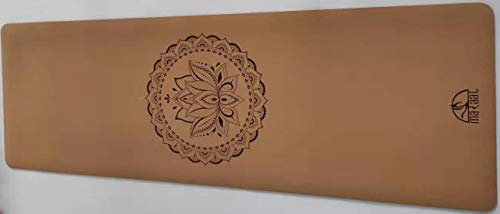 """Maraal Organic Cork & Tree Rubber 72""""x 24""""x 5 MM Durable High Density Yoga & Pilates Mat, Efficient spring back, Double Side Non-Slip, Non- Toxic, Grippier w/sweat, Strong Absorbent, Breathable and Eco-friendly (MR10-5mm)"""