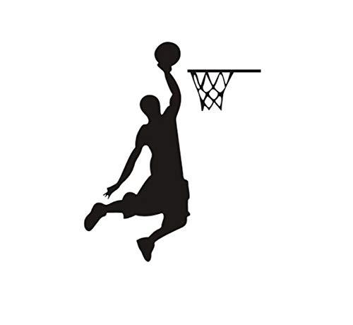 Adhesivo decorativo para pared con diseño de jugador de baloncesto y Dunk, para decoración de pared