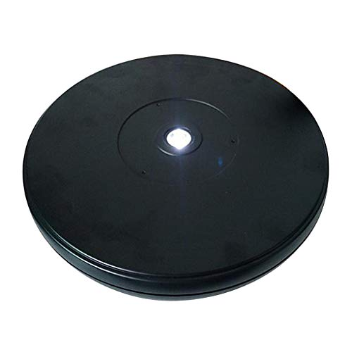 H HILABEE Universal roterande tallrik snurra scen för museum utställning juvelerarbutik etc, diameter 20 cm, max. lastkapacitet 10 kg – vit