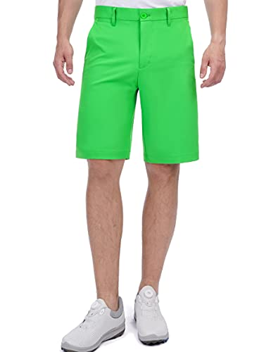 Bakery Men's Golf Shorts Khaki Stretch Tech Light Relaxed Fit Quick Dry Twill Short Size 32 Green