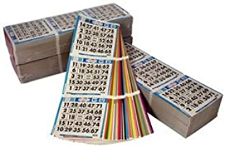 United Novelty 3 on 15 up Bingo Color Collated Paper Game Cards- Book of 50- Blue, Orange, Green, Yellow, Pink, Gray, Olive, Brown, Red, Purple, Black, Aqua, Blue Tint, Orange Tint, Green Tint