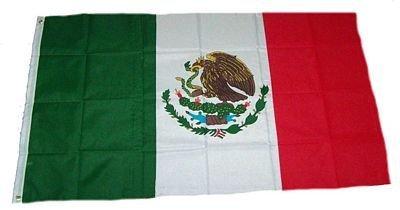 Flaggenking Mexico vlaggen/vlag - weerbestendig, wit, 150 x 90 x 1 cm, 16898