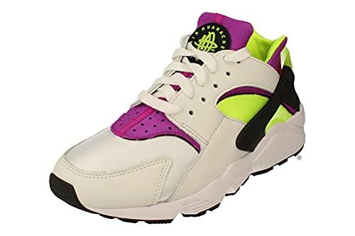 Nike Air Huarache Hombre Running Trainers DD1068 Sneakers Zapatos (UK 7.5 US 8.5 EU 42, White Neon Yellow Magenta 104)