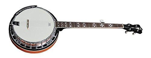 VGS Banjo Premium - Caldera de caoba de 5 cuerdas con 24 tornillos tensores