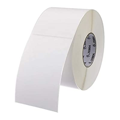 Zebra - 4 x 6 in Thermal Transfer Polypropylene labels, PolyPro 4000T Permanent Adhesive Shipping labels, Zebra Industrial Printer Compatible, 3 in Core - 4 rolls - 10031660SP