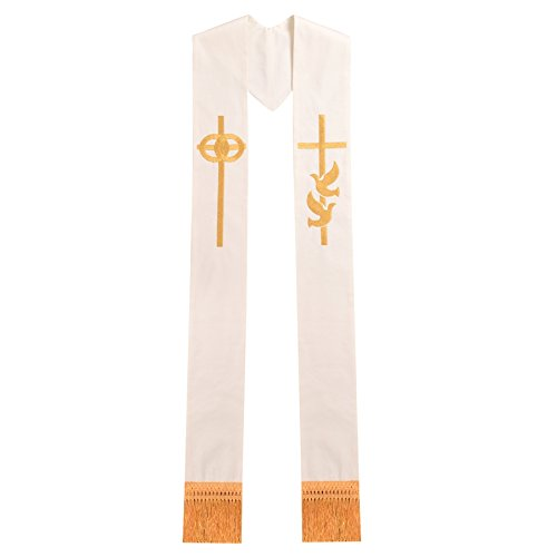 BLESSUME Pastor Wedding Embroidery Stole