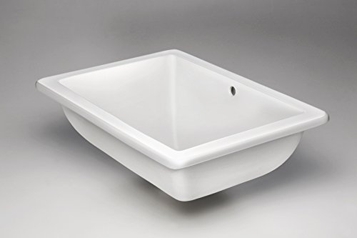 Bathroom Sink - Porcelain Ceramic - Undermount Sink Vessel - Best Quality Modern Sink Basin - Highest Industry Quality White Glaze - Family Owned Handmade In The USA by O'Brien Sinks - See Guarantee