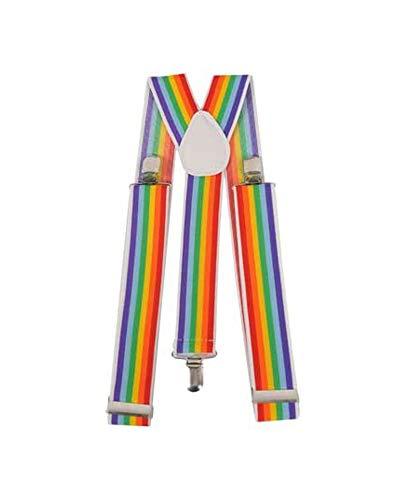 Dress Up America Bretelles unisexe de mode arc-en-ciel large,Wide,Multicolore