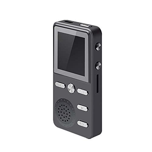 Reproductor De Mp3 Reproductor de MP3 HiFi sin pérdida MP3 Música Música Multifunción FM Reloj Grabador de Reloj ROTYLY Stereo Jugadores (Color : Black, Memory Size : 16GB)