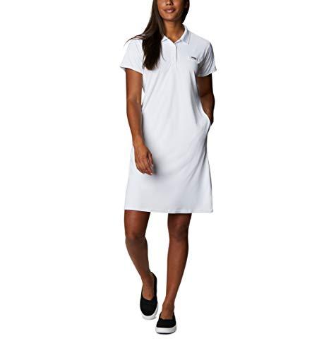 Columbia Women's Tidal Tee Polo Dress, White, Large