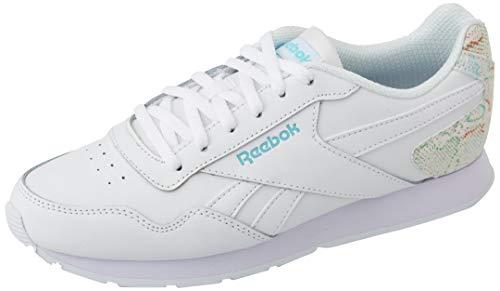Reebok Royal Glide, Scarpe da Corsa Donna, White/Digital Glow/White, 39 EU
