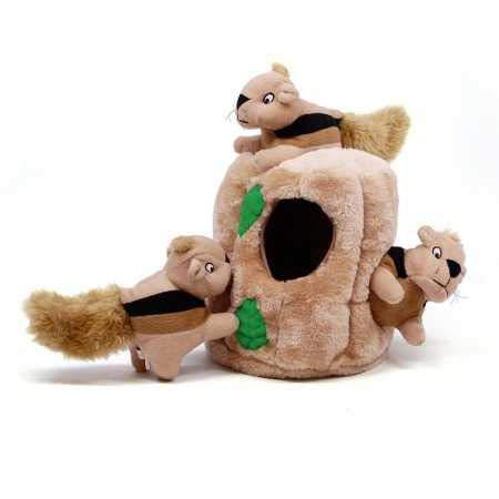 Outward Hound Hide a Squirrel Fun Hide & Seek Interactive Puzzle Plush Dog Toy, 4Piece, Medium (203389)