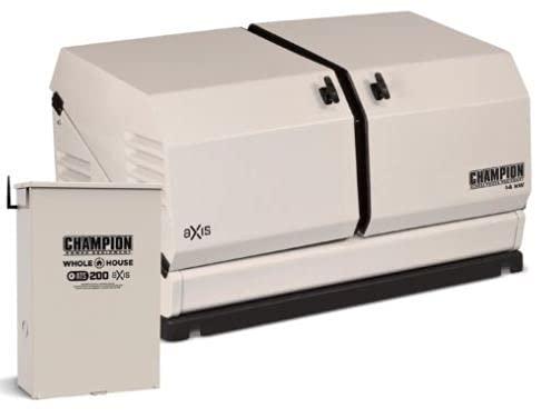Champion 14KW 754cc aXis Standby Generator w/ 200amp Transfer Switch #100837