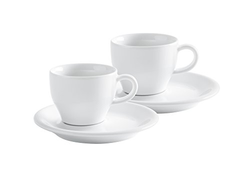 Kahla - Cappuccino Italiano Set 4 teilig Café Sommelier 2.0 weiß 180 ml