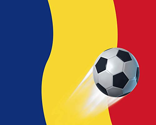 1art1 Fußball - Rumänien Länder-Flagge Poster 50 x 40 cm
