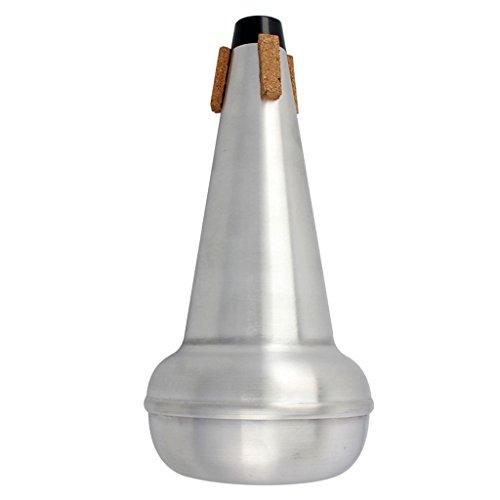 perfk Aleación de Aluminio Tenor Trombón Mudo para La Práctica Accesorio Musical Plata