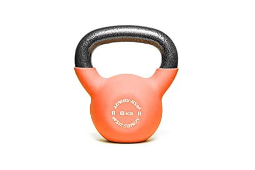 Xenios USA, Fitness Kettlebell-6 kg. Unisex Adulto, Nero