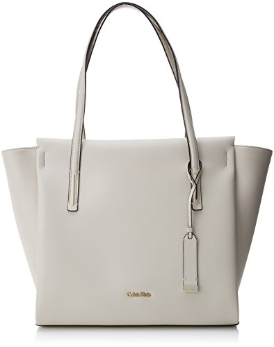 Calvin Klein Frame Large Shopper - Borse Tote Donna, Bianco (Cement),...