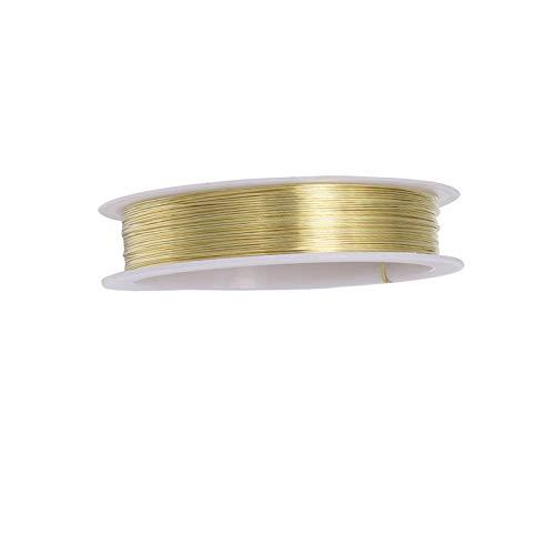 SEIWEI Alambre para abalorios de joyería de 0,5 mm para fabricación de joyas y manualidades.